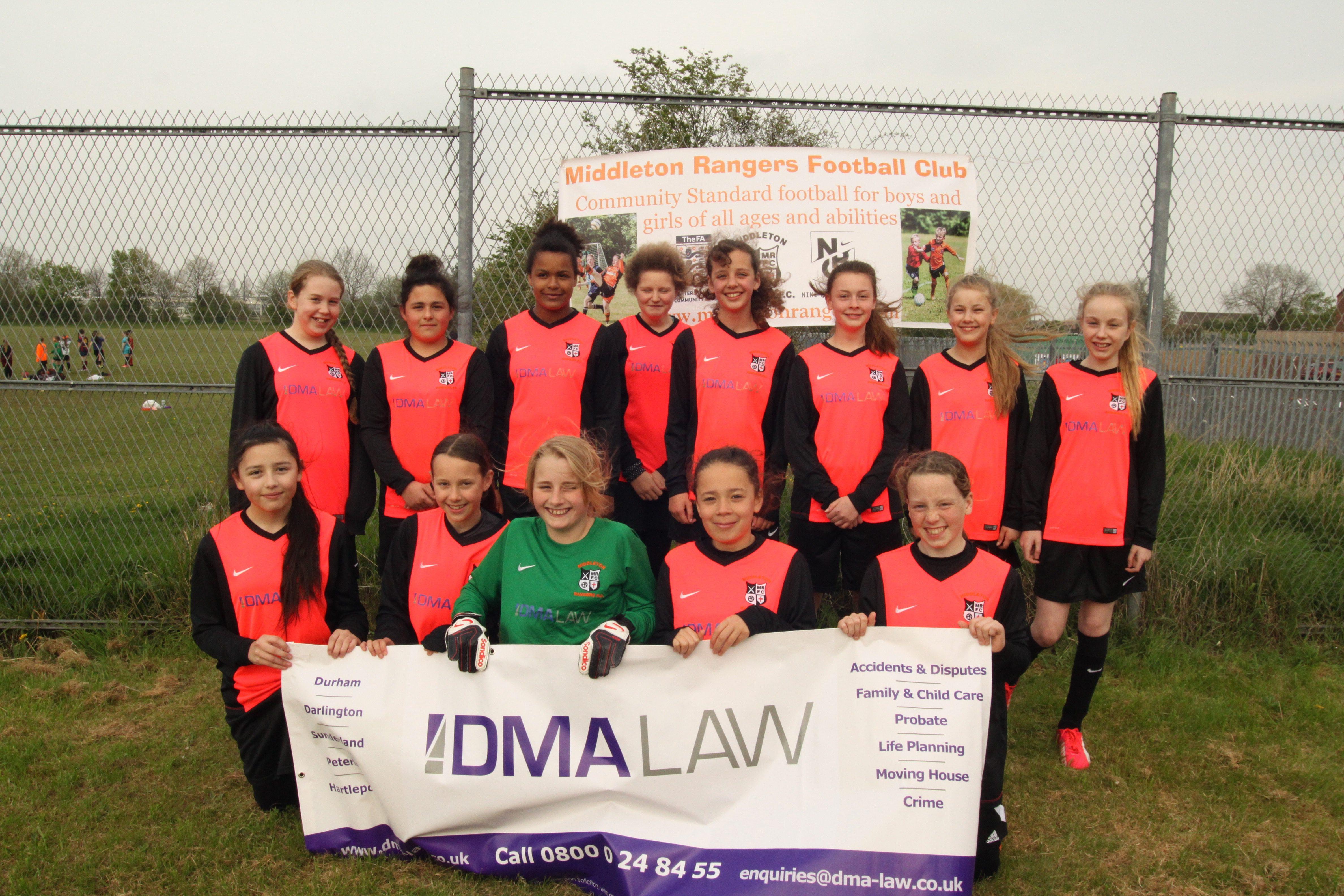 DMA Law sponsors girls' team at Middleton Rangers