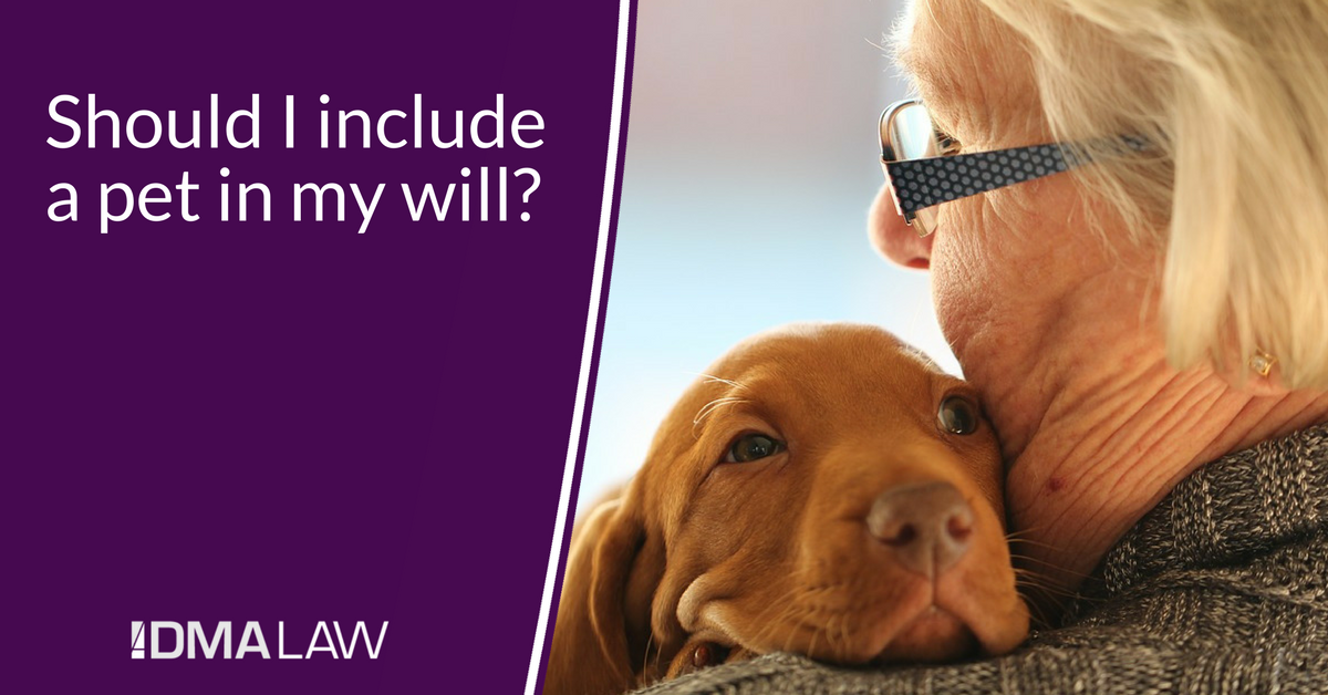Should I include a pet in my will?